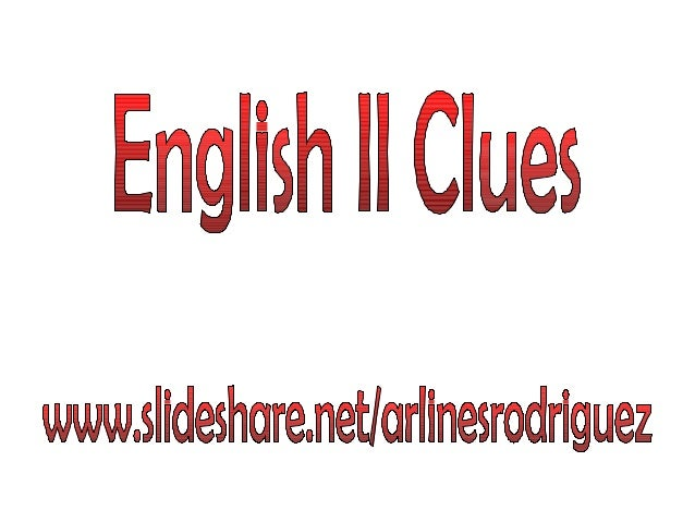 0  English II clues - Worldlink
