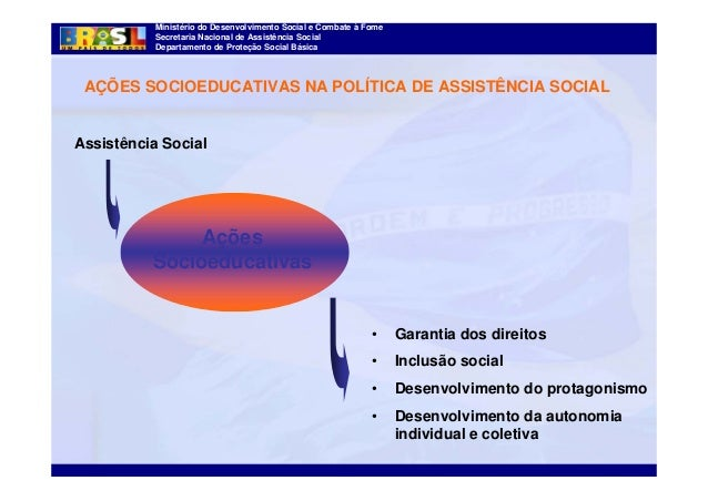 Ministério do Desenvolvimento Social e Combate à Fome Secretaria Nacional de Assistência Social Departamento de Proteção S...