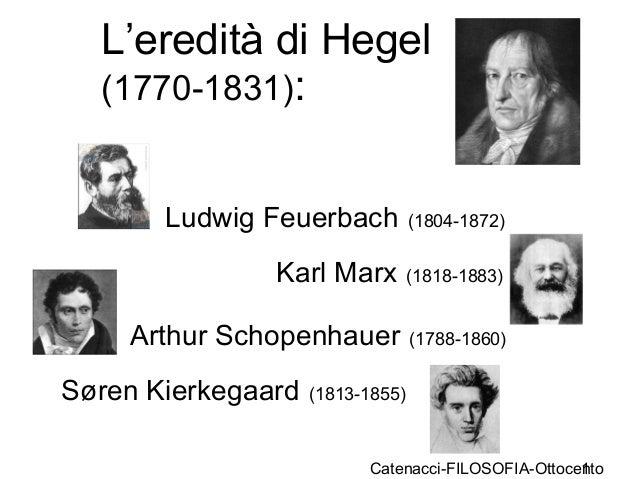 Catenacci-FILOSOFIA-Ottocento1 L'eredità di Hegel (1770-1831): Ludwig Feuerbach (1804-1872) Karl Marx (1818-1883) Arthur S...