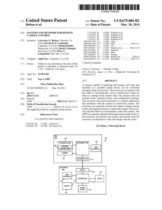 Brevetto Apple: Sistemi e metodi di controllo della fotocamera