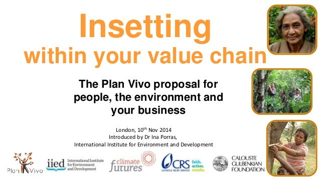 Insetting within your value chain The Plan Vivo proposal for people, the environment and your business London, 10th Nov 20...