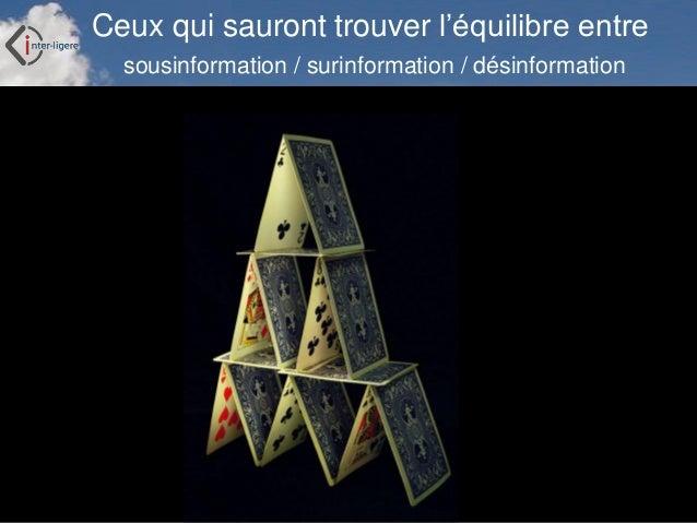 Inter-Ligere SARL - Site: inter-ligere.fr Ceux qui sauront trouver l'équilibre entre sousinformation / surinformation / dé...
