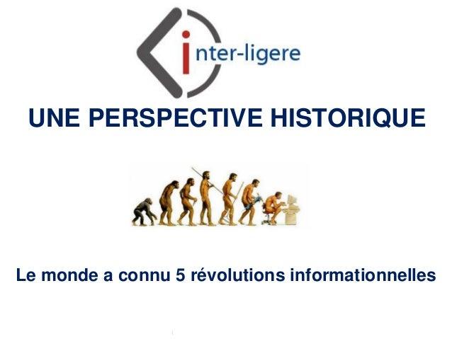 Inter-Ligere SARL - Site: inter-ligere.fr UNE PERSPECTIVE HISTORIQUE Le monde a connu 5 révolutions informationnelles