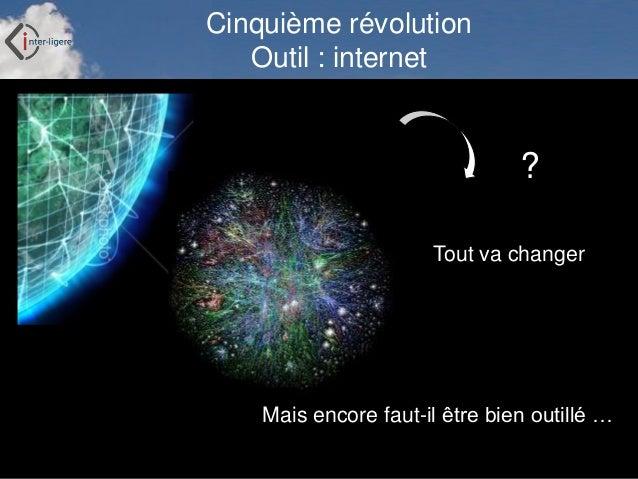 Inter-Ligere SARL - Site: inter-ligere.fr Cinquième révolution Outil : internet Tout va changer Mais encore faut-il être b...