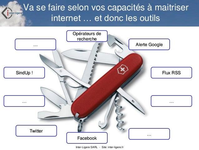 Inter-Ligere SARL - Site: inter-ligere.fr Va se faire selon vos capacités à maitriser internet … et donc les outils Alerte...