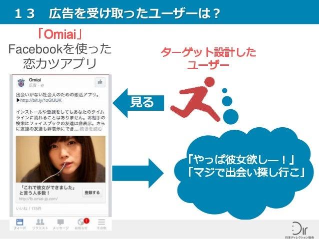 13 広告を受け取ったユーザーは? Facebookを使った 恋カツアプリ 見る