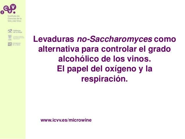 Levaduras no-Saccharomyces como alternativa para controlar el grado alcohólico de los vinos. El papel del oxígeno y la res...