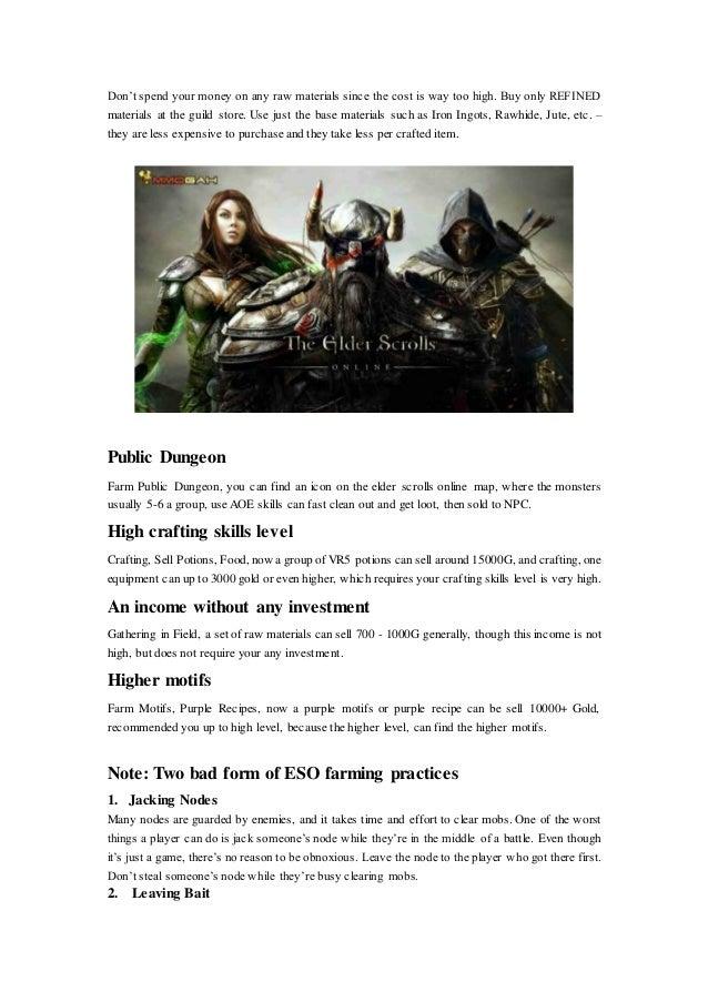 Fast Making Elder Scrolls Online Gold