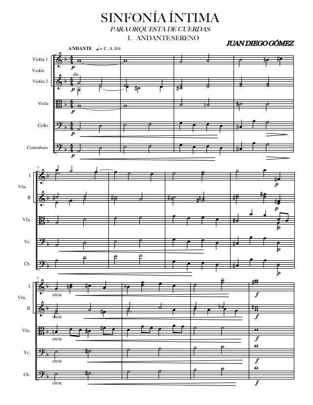 & & B ? ? b b b b b 4 4 4 4 4 4 4 4 4 4 Violin 1 Violin 2 Viola Cello Contrabass Violin w ˙ ˙ ˙ ˙ w ˙ ˙ ˙ ˙ p ANDANTE q = ...