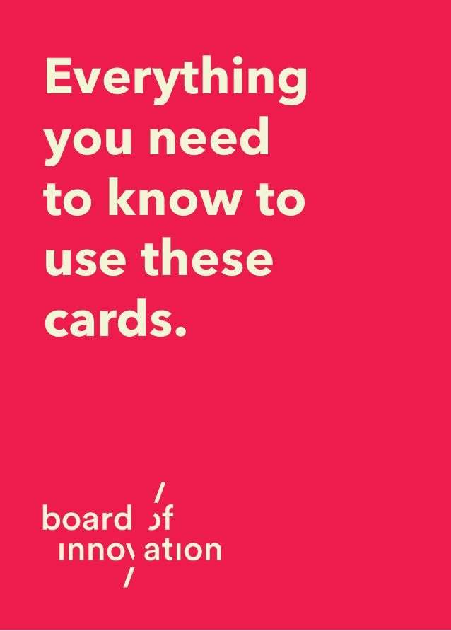Everything you need to know to use these cards.