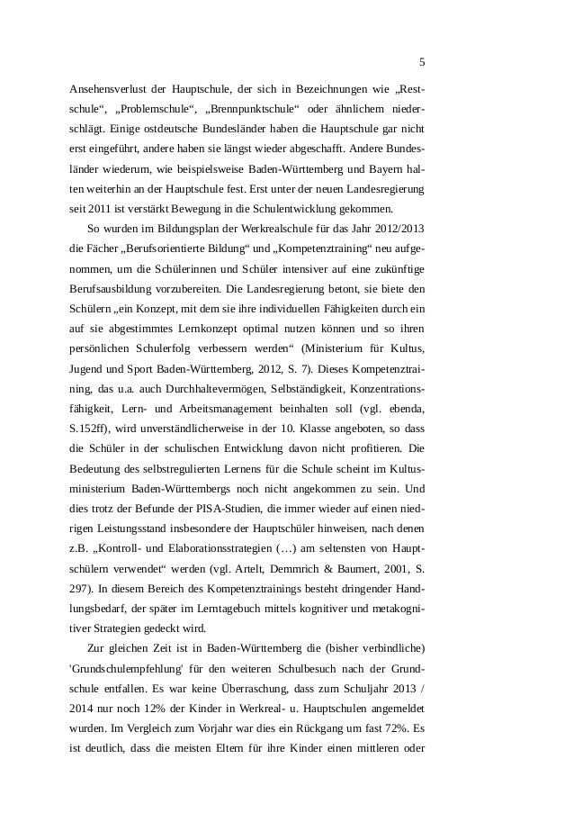 Hauptschule - Lerntagebuch - Lernstrategien