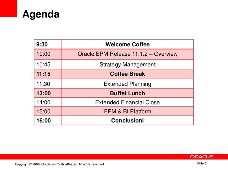 Agenda                9:30                                                   Welcome Coffee                10:00          ...