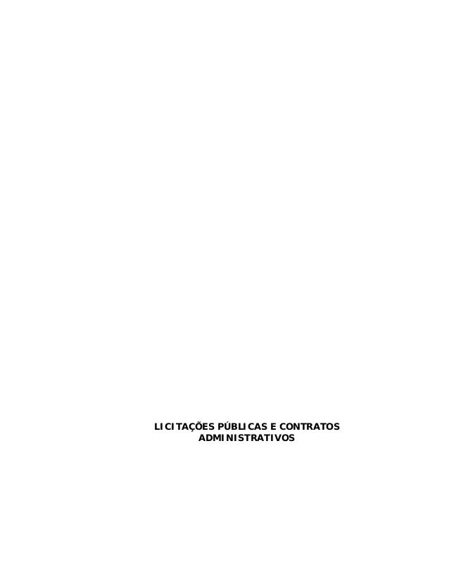 LICITAÇÕES PÚBLICAS E CONTRATOSADMINISTRATIVOS