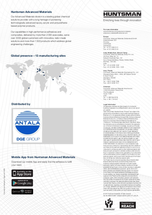 Huntsman Advanced Materials Our Advanced Materials division is a leading global chemical solutions provider with a long he...