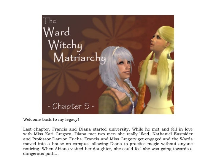Welcome back to my legacy!Last chapter, Francis and Diana started university. While he met and fell in lovewith Miss Kari ...