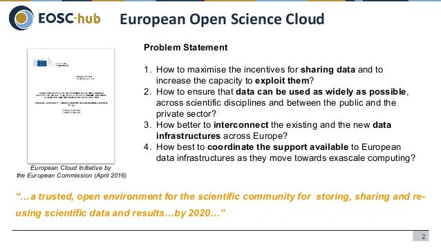 Cloud Computing Needs for Earth Observation Data Analysis: EGI and EOSC-hub Slide 2