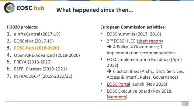 Cloud Computing Needs for Earth Observation Data Analysis: EGI and EOSC-hub Slide 3