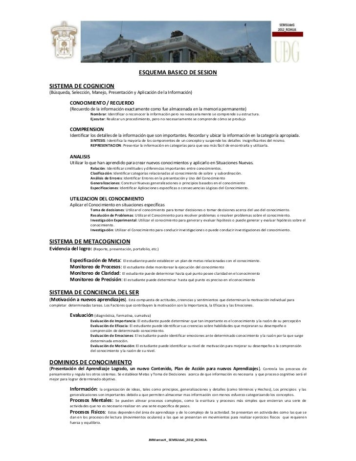 ESQUEMA BASICO DE SESIONSISTEMA DE COGNICION(Búsqueda, Selección, Manejo, Presentación y Aplicación de la Información)    ...