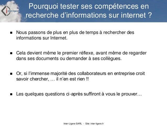 Exercices de recherche d'informations sur Internet Slide 3