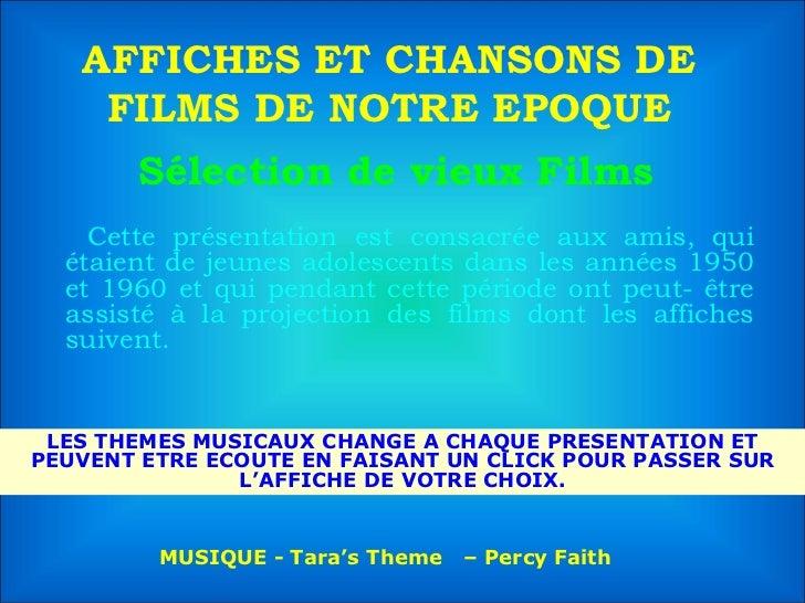 Sélection de vieux Films  <ul><li>Cette présentation est consacrée aux amis, qui étaient de jeunes adolescents dans les an...