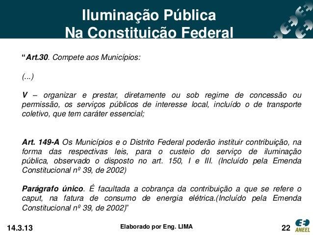 iluminação publica scar22 iluminação pública na constituição federal \u201c