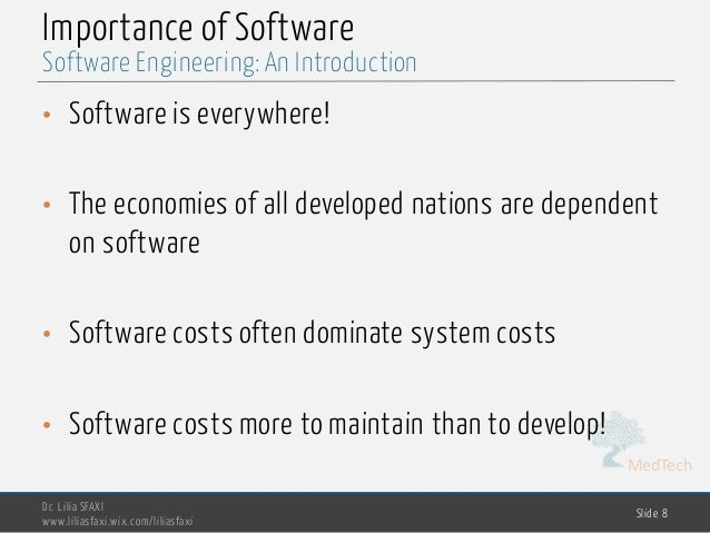the important of software engineering The importance of education cannot be denied by any mean because education is the only solution of all kinds of problemshis is the era of software engineering, in past parents had two options doctor or engineer for their children.