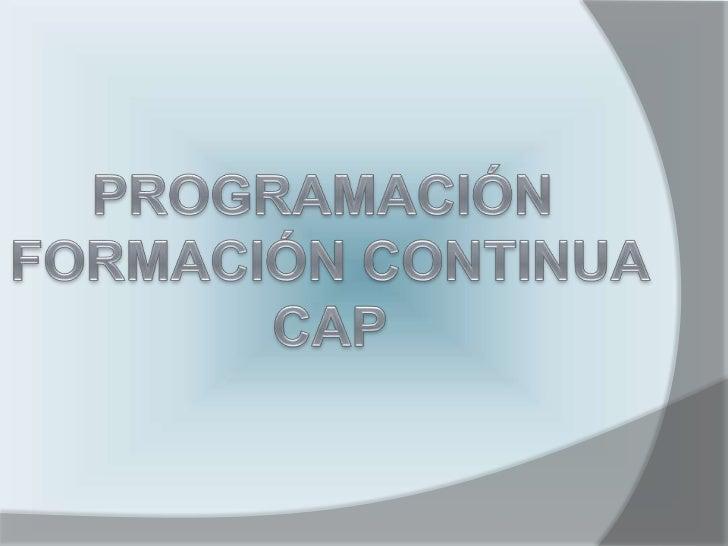 CERTIFICADO DE APTITUD     PROFESIONAL         CAP   FORMACIÓN CONTINUA    1.   CONDUCCIÓN RACIONAL BASADA EN LAS        ...