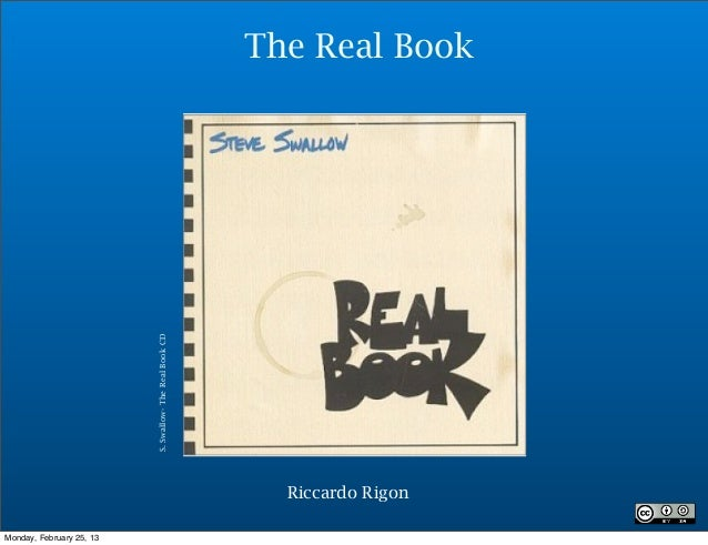 The Real Book                          S. Swallow- The Real Book CD                                                       ...