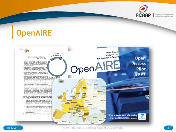 OpenAIRE<br />29-09-2011<br />1<br />RCAAP - Repositório Cientifico de Acesso Aberto de Portugal<br />