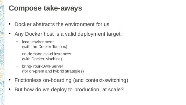 From development environments to production deployments with Docker, …