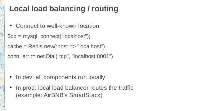 From development environments to production deployments for Consul load balancing