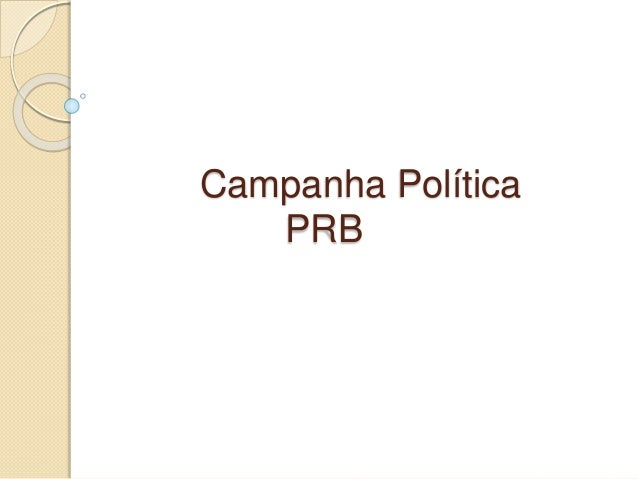 Campanha Política PRB