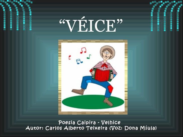 "Poesia Caipira - Velhice  Autor: Carlos Alberto Teixeira (Voz: Dona Míula) "" VÉICE"""