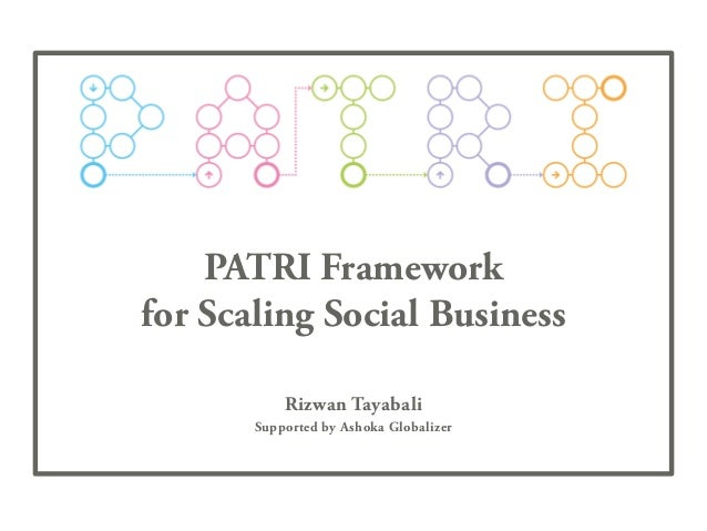 PATRI Framework for Scaling Social Business Rizwan Tayabali Supported by Ashoka Globalizer