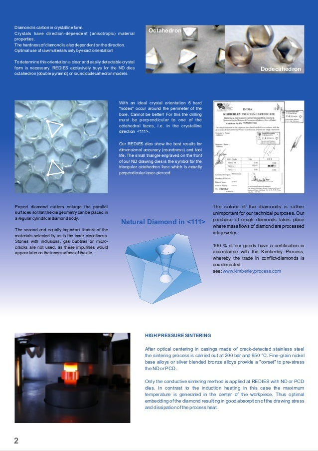 Natural Diamond in <111> Diamond is carbon in crystalline form. Crystals have direction-dependent (anisotropic) material p...