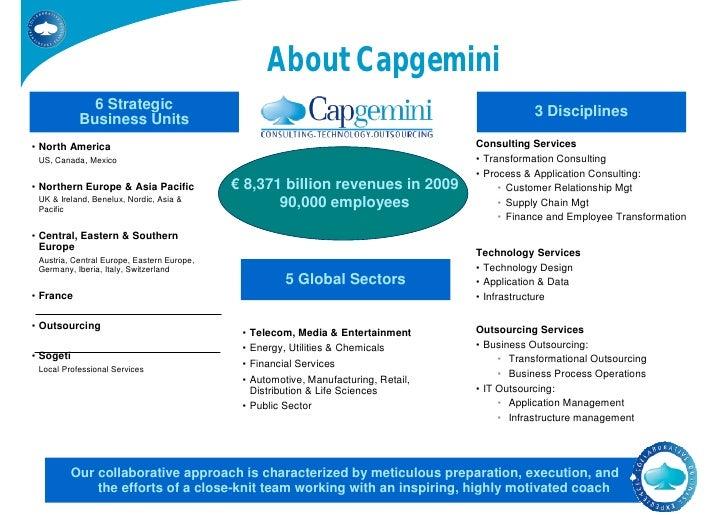 About Capgemini              6 Strategic                                                                                  ...
