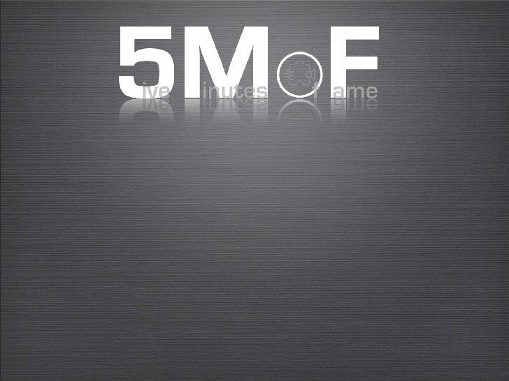Five Minutes of Fame      October Code Challenge