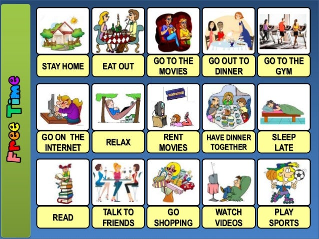 Free Time Activities Simple Present