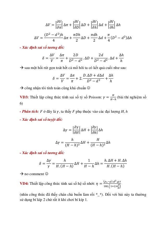 Hai bí kíp thiết lập công thức sai số - ĐHBKHN Slide 3