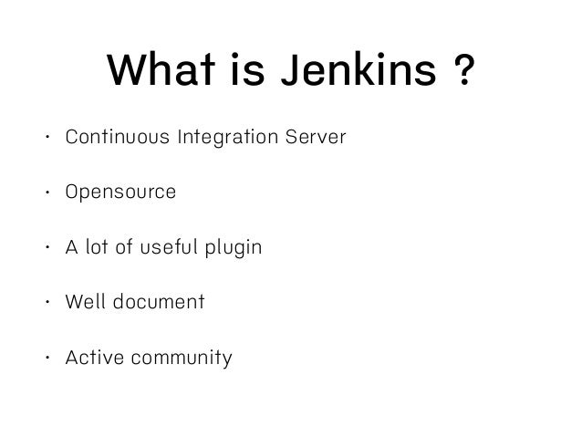 Introduction to Continuous Integration