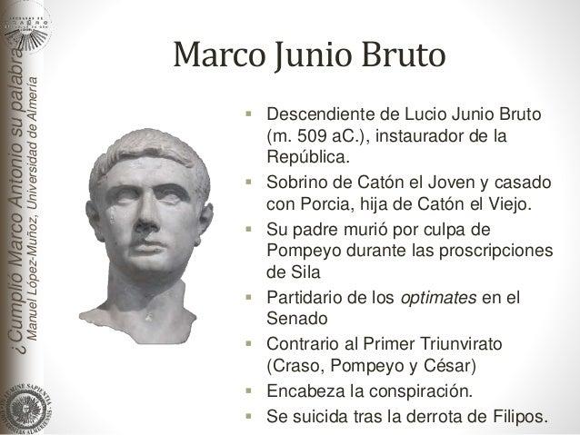 Resultado de imagen para MARCO JUNIO BRUTO