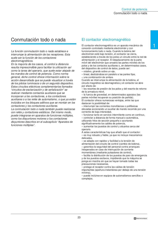 Manual electrotécnico -telesquemario telemecanique page 23