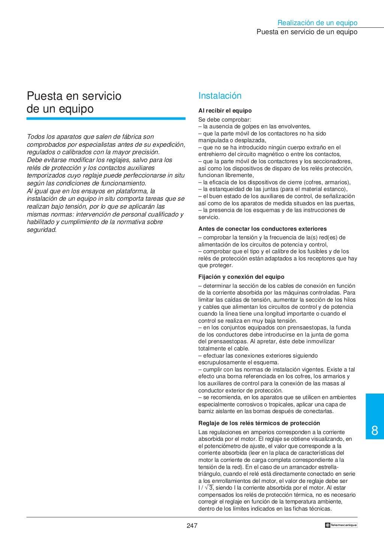 Manual electrotécnico -telesquemario telemecanique page 249