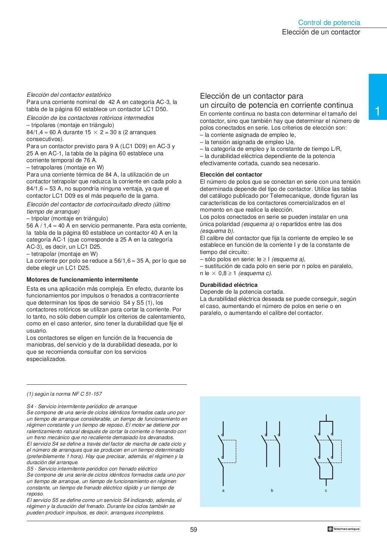 Manual electrotécnico -telesquemario telemecanique page 60