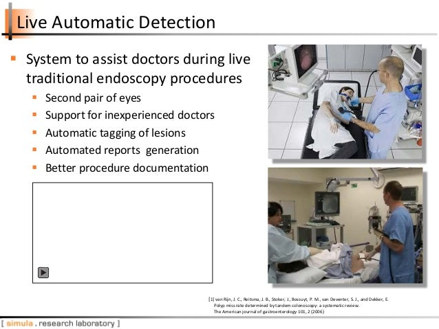 Live Automatic Detection  System to assist doctors during live traditional endoscopy procedures  Second pair of eyes  S...