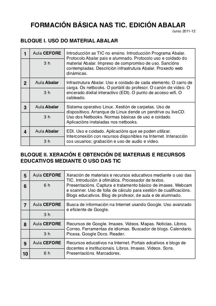 FORMACIÓN BÁSICA NAS TIC. EDICIÓN ABALAR                                                                           curso 2...