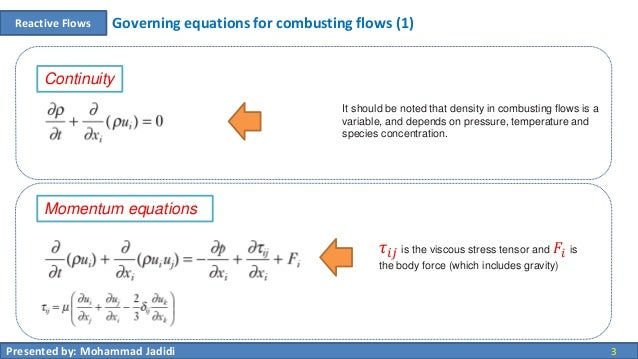 00 reactive flows - governing equations