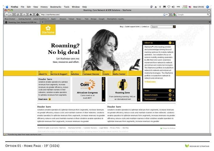 Option 01 - Home Page - 19' (1024)   DESIGN BY STRATIGO