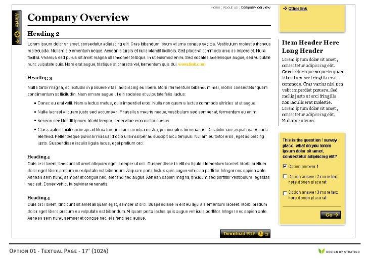 Option 01 - Textual Page - 17' (1024)   DESIGN BY STRATIGO