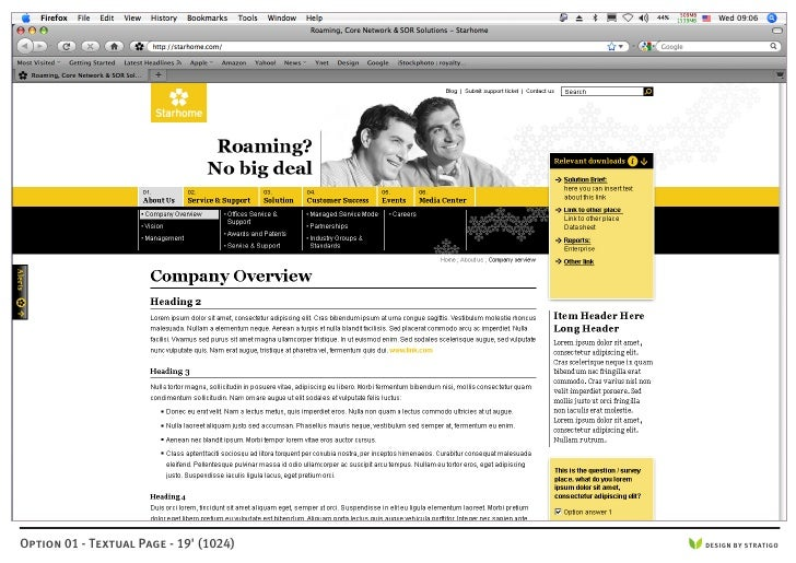 Option 01 - Textual Page - 19' (1024)   DESIGN BY STRATIGO
